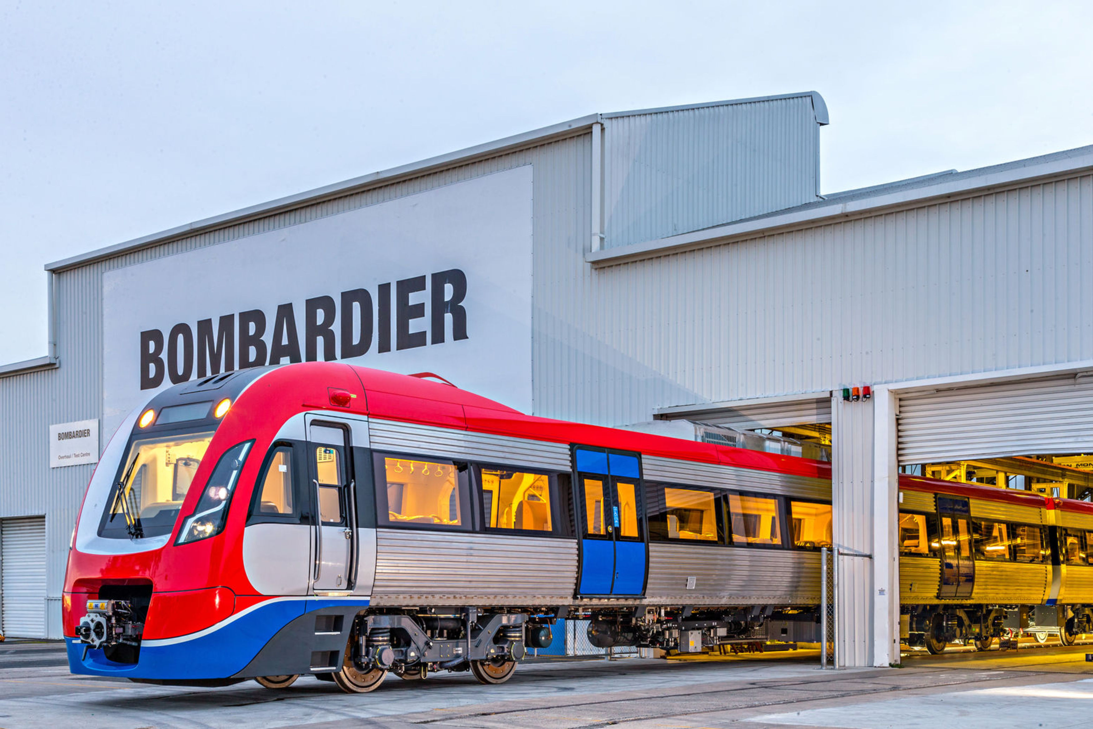 Adelaide commuter car at Bombardier's Dandenong site near Melbourne, Victoria