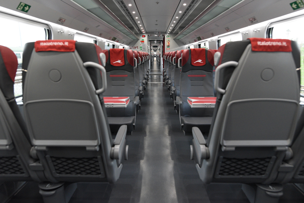 Engineered Leather Train Seating