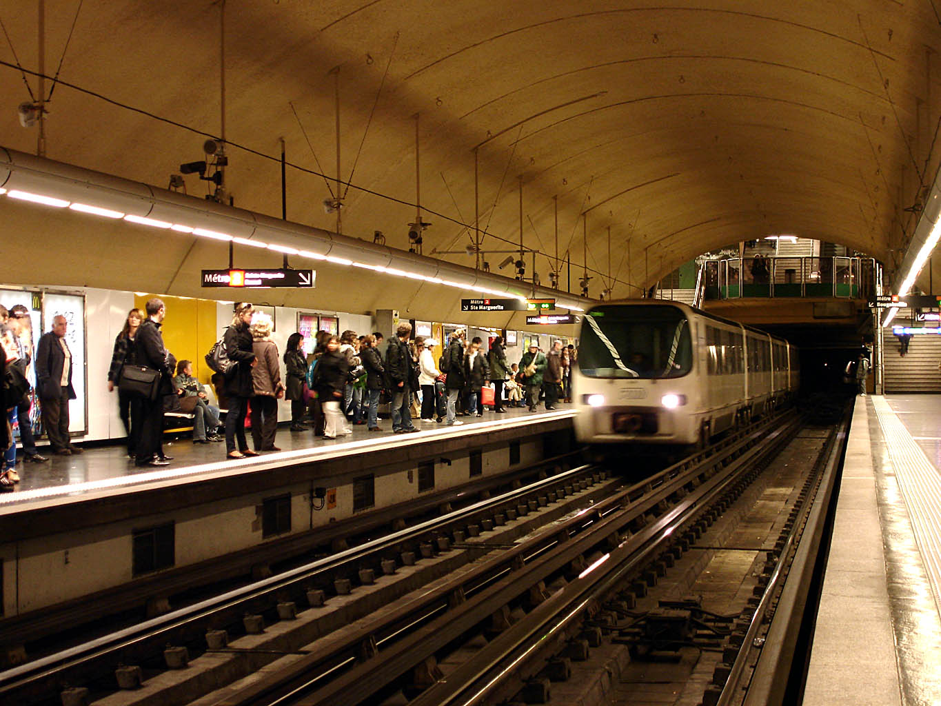 Marseille metro with Alstom train