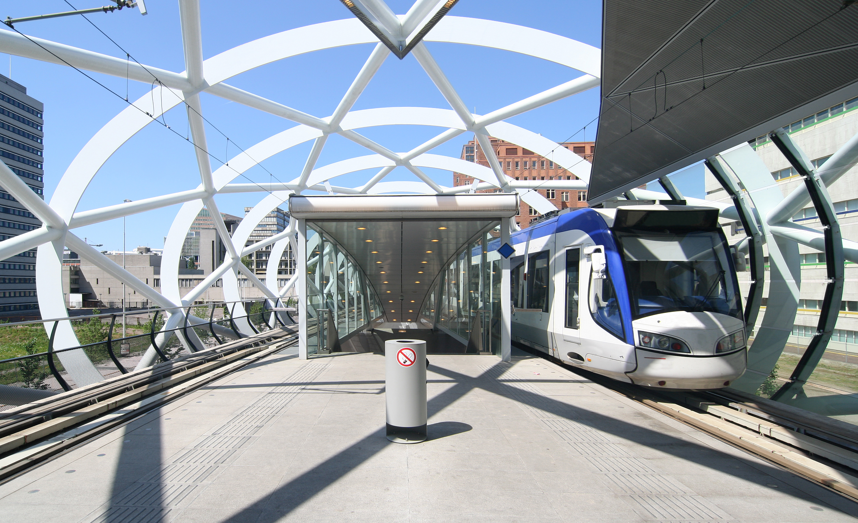 Elastic rail pads and base plate pads in the Hague Metro, Netherlands