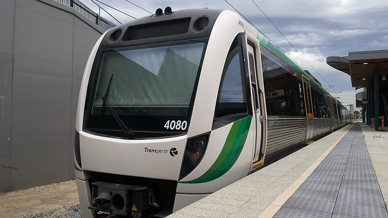 Transperth B-series train that will serve the Yanchup extension
