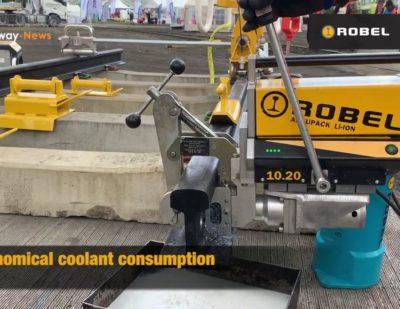 ROBEL Battery Powered Rail Drilling Machine