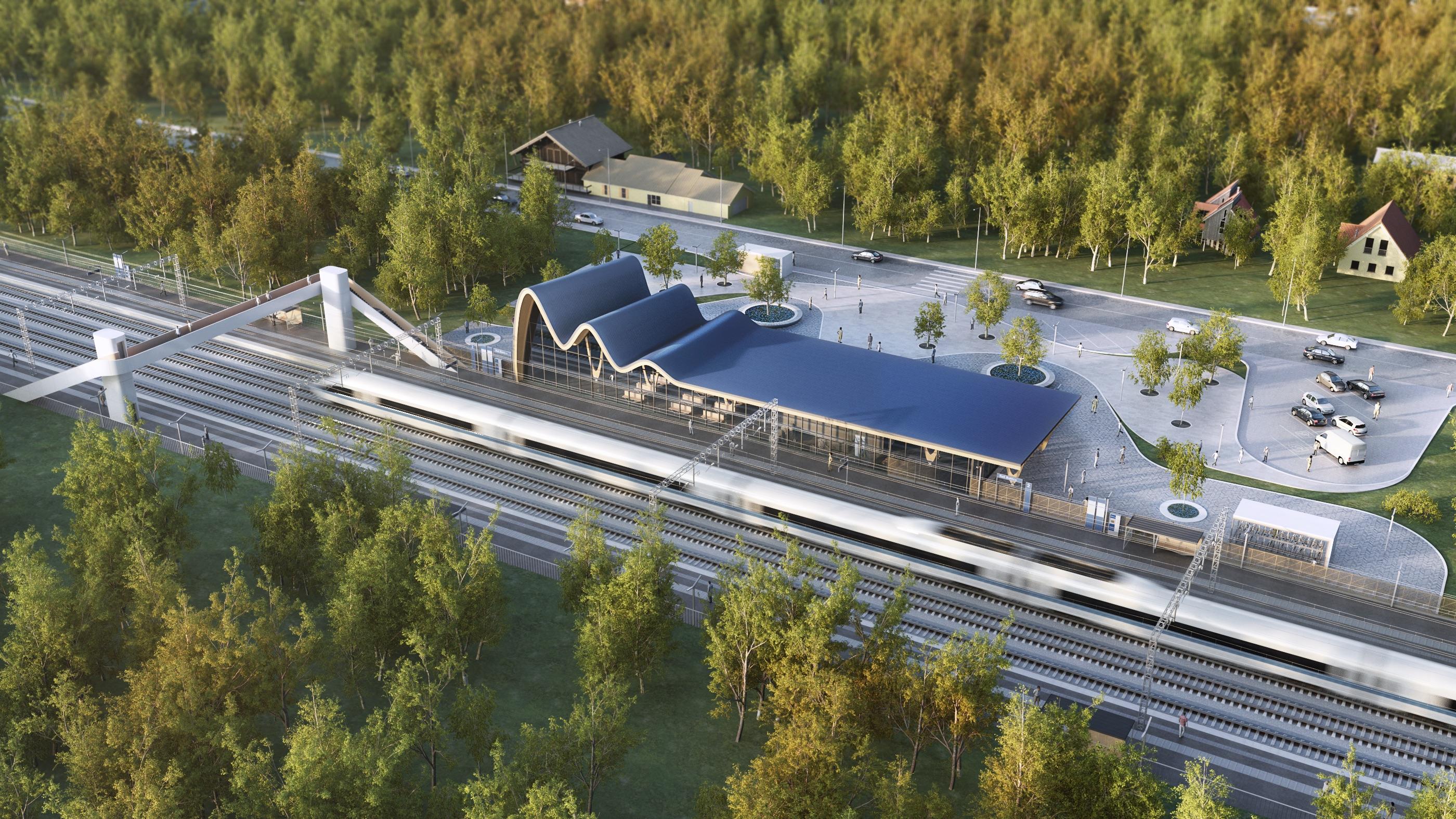 Rail Baltica regional station visualisation