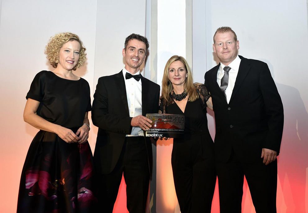 Bender UK Customer Excellence In Cumbria Business Awards