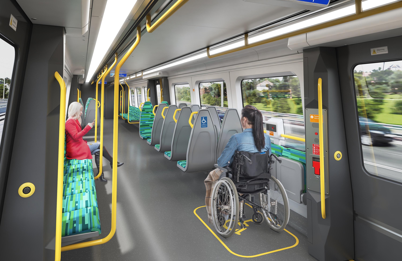 Alstom C-series Perth EMU interior