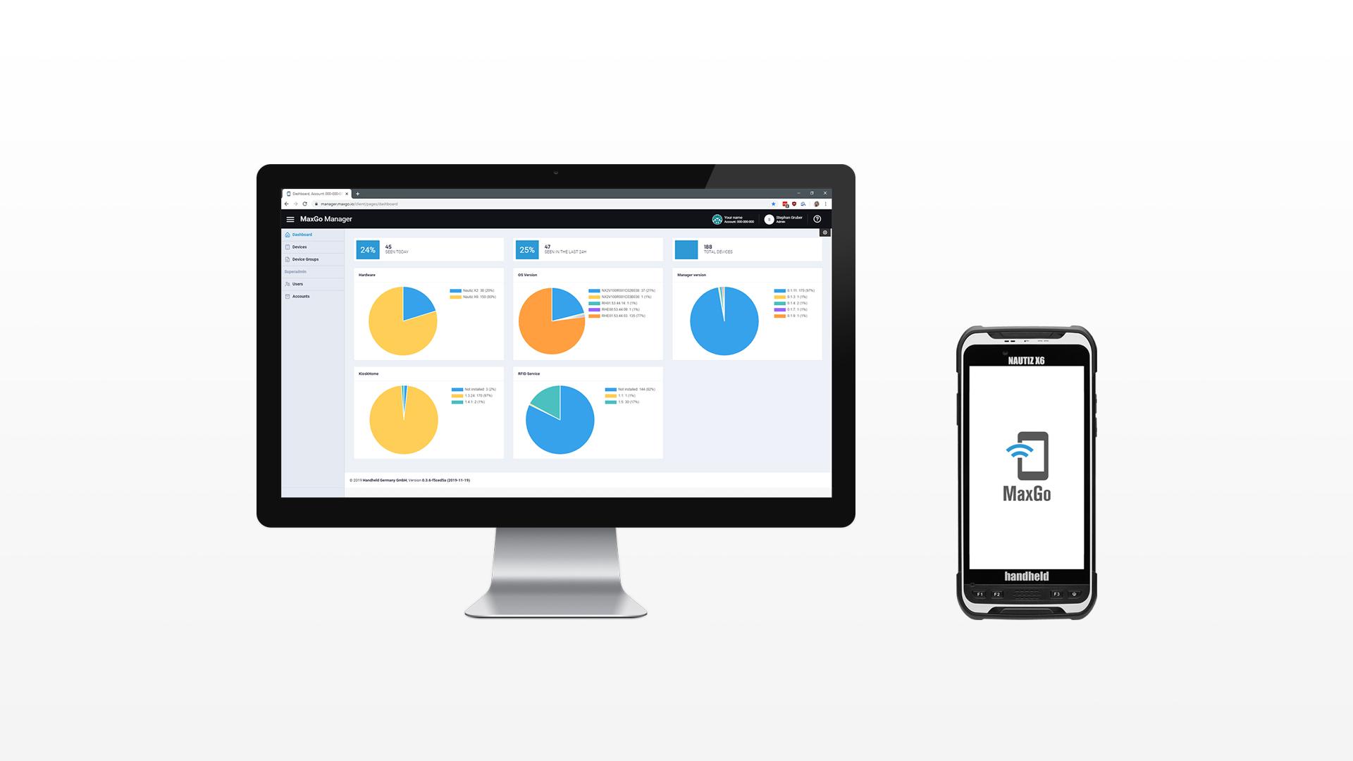 Handheld MaxGo Manager MDM solution