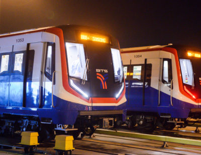 All New Metro Trains for Bangkok Skytrain Now in Service