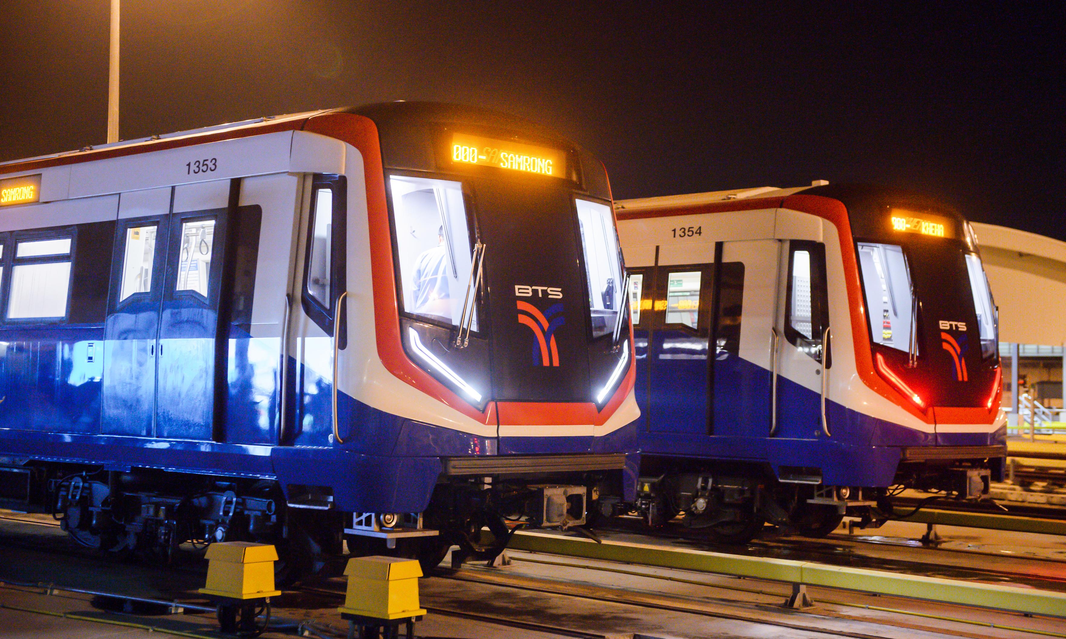Siemens Mobility metro trains for Bangkok Skytrain Green Line