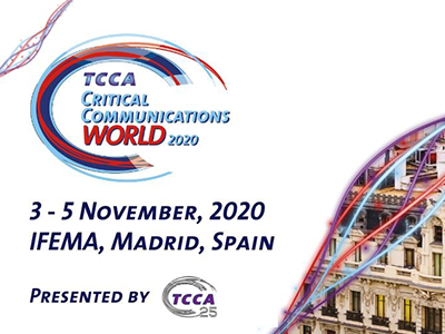 TCCA's Critical Communications World 2020 Rescheduled to November