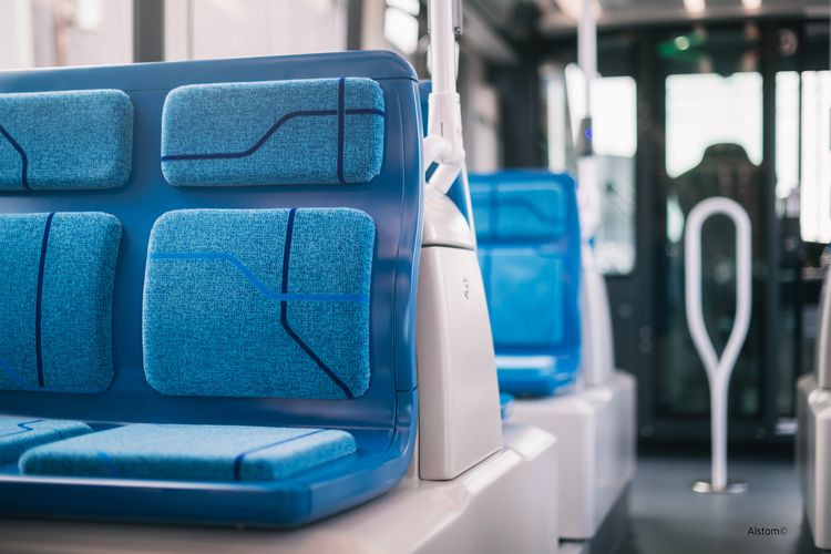 Lantal seat covers for Alstom Citadis LRV