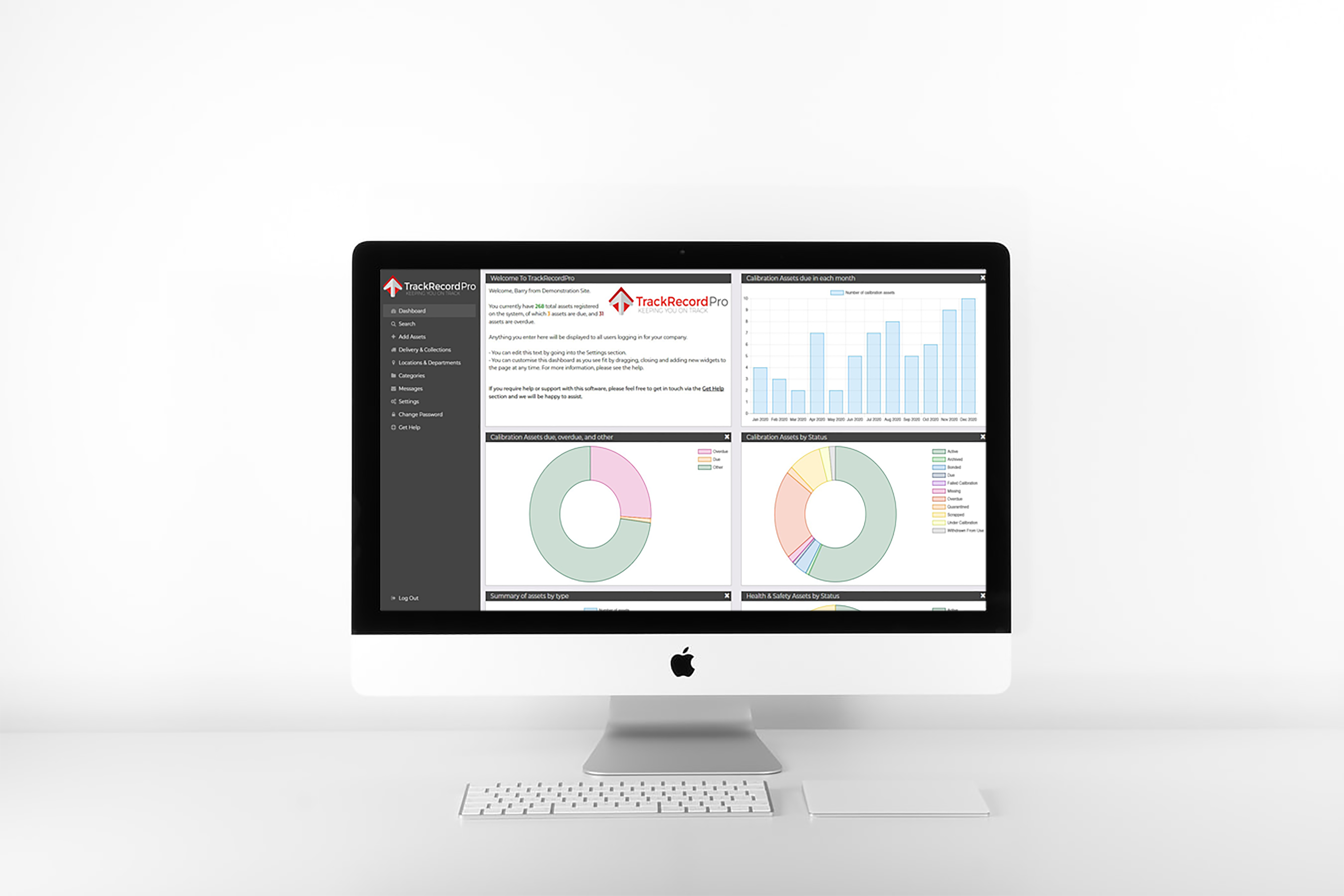 TrackRecordPro's easy to navigate dashboard.