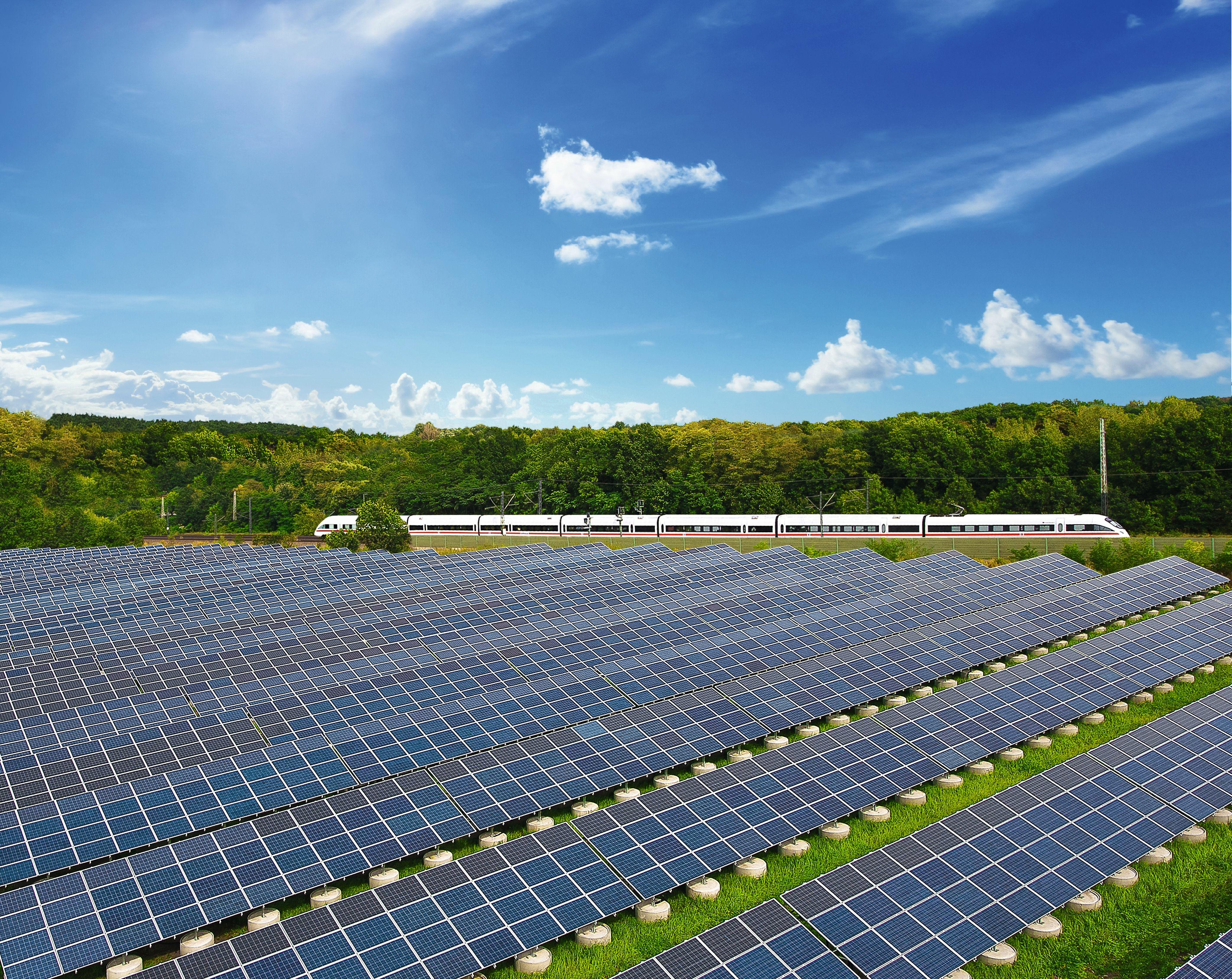 Deutsche Bahn solar panels