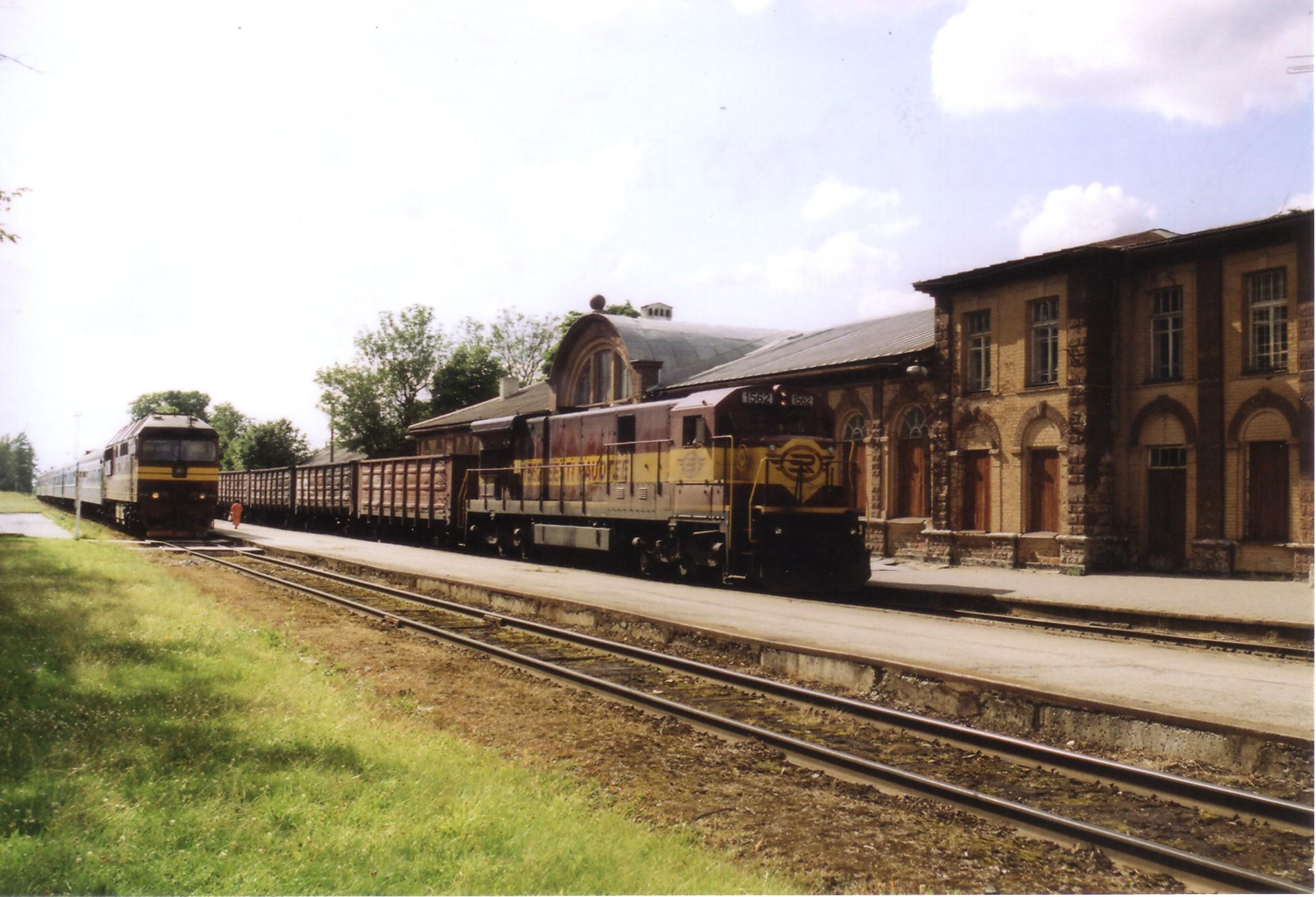 C30 locomotive at Tapa, Estonia