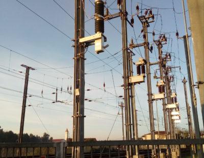 COELME-EGIC Single VSV at catenary level in Portugal on IP line