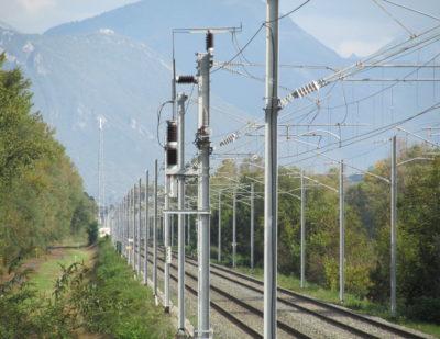 COELME-EGIC Single VSV at catenary level on SNCF line