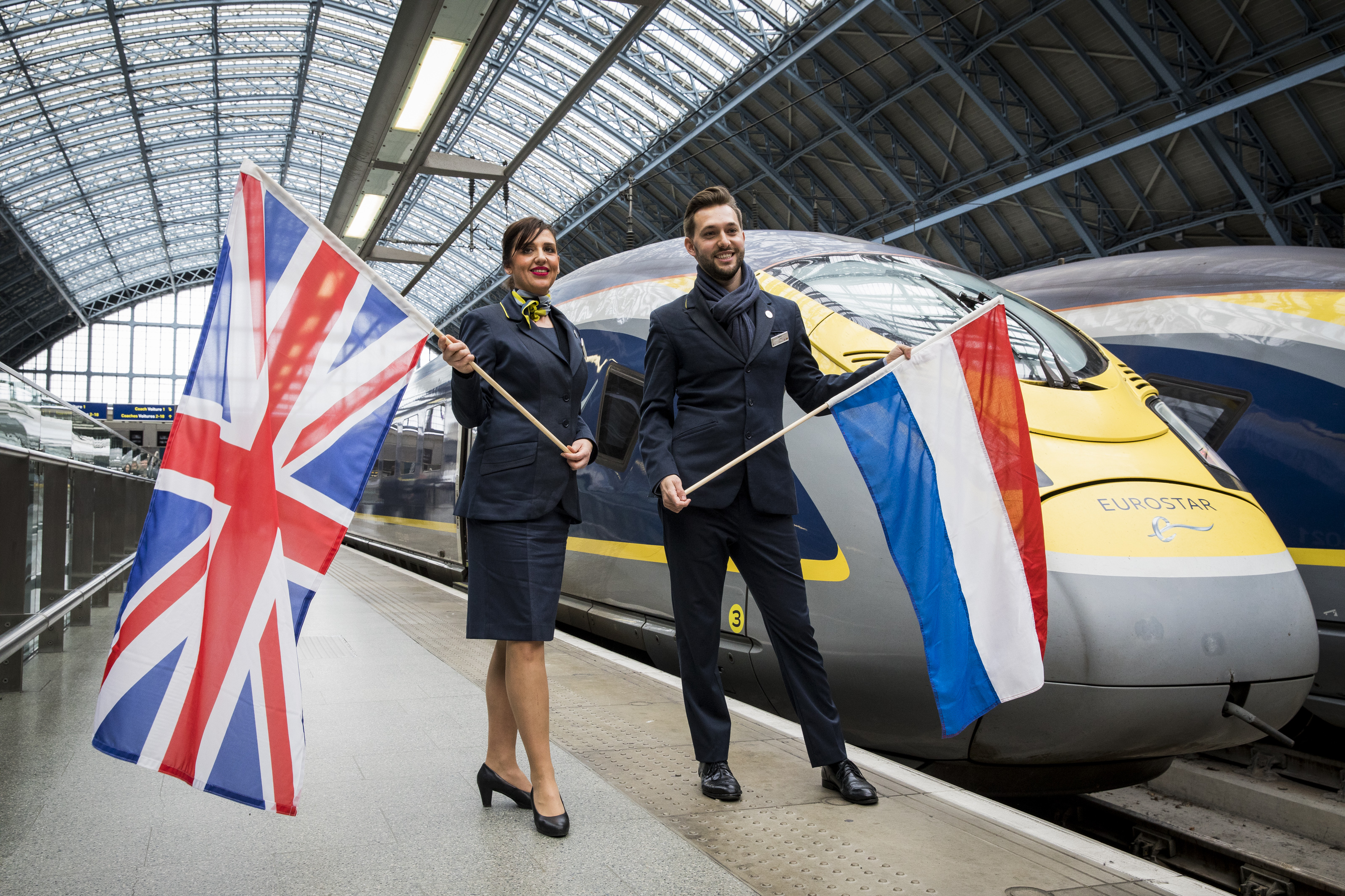 Inaugural direct Eurostar from Amsterdam to London
