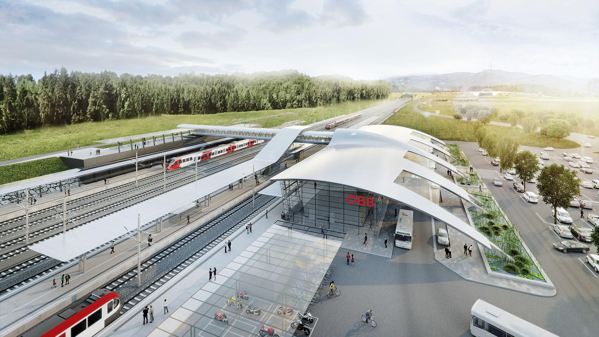OEBB station in Styria