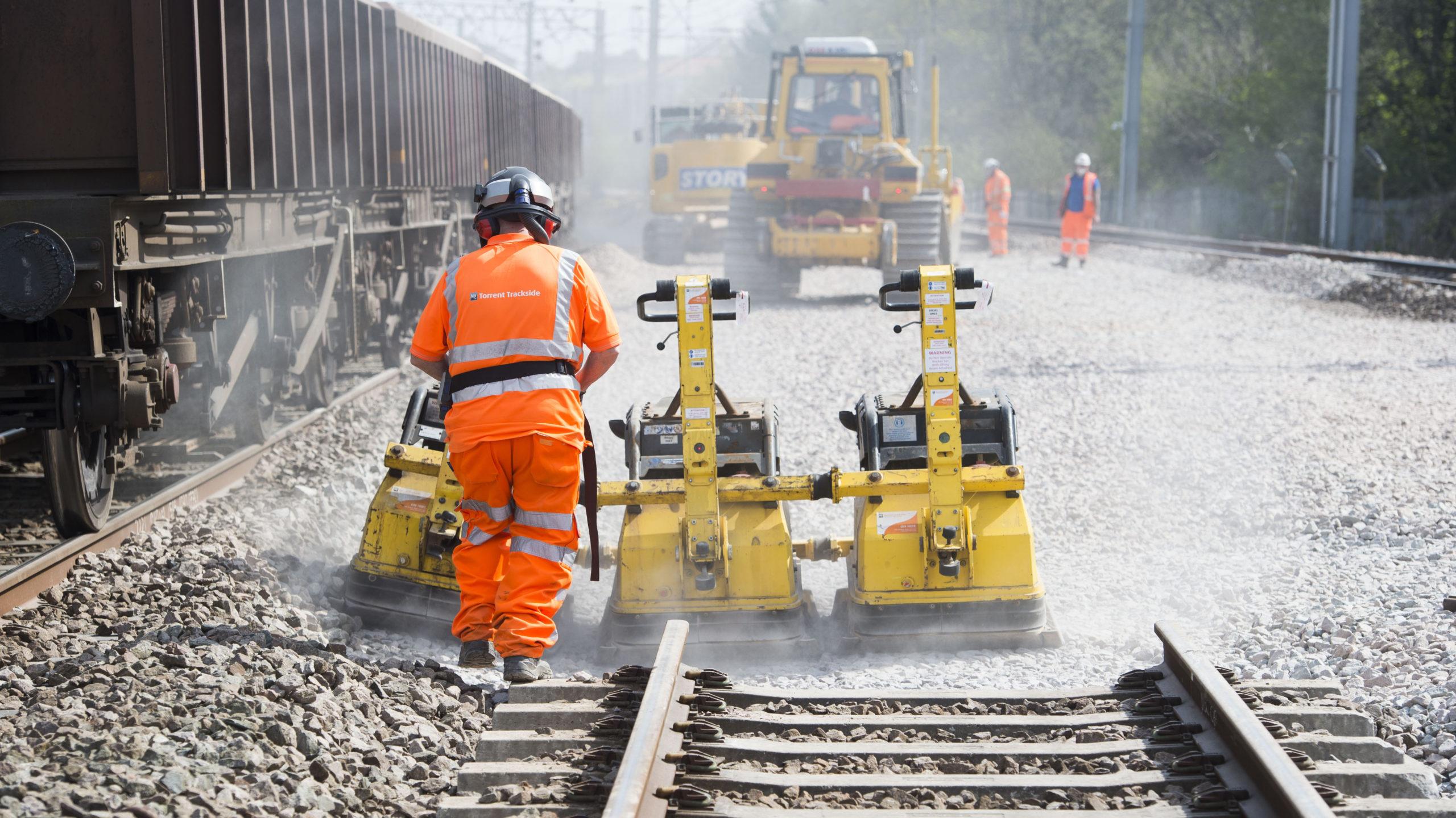 Track renewal works on the West Coast Main Line