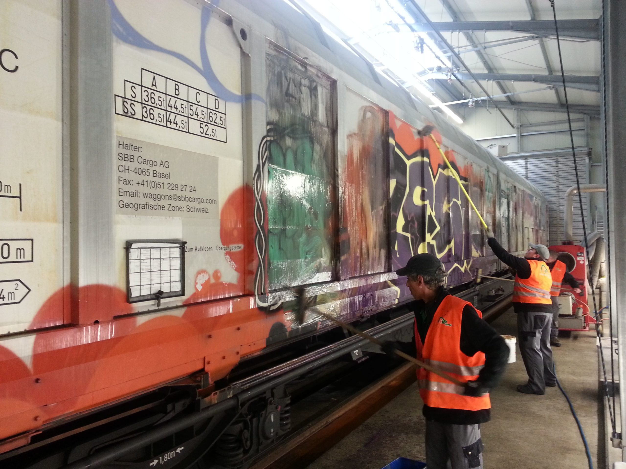 BIOforte Graffiti Removal for Swiss Federal Railways
