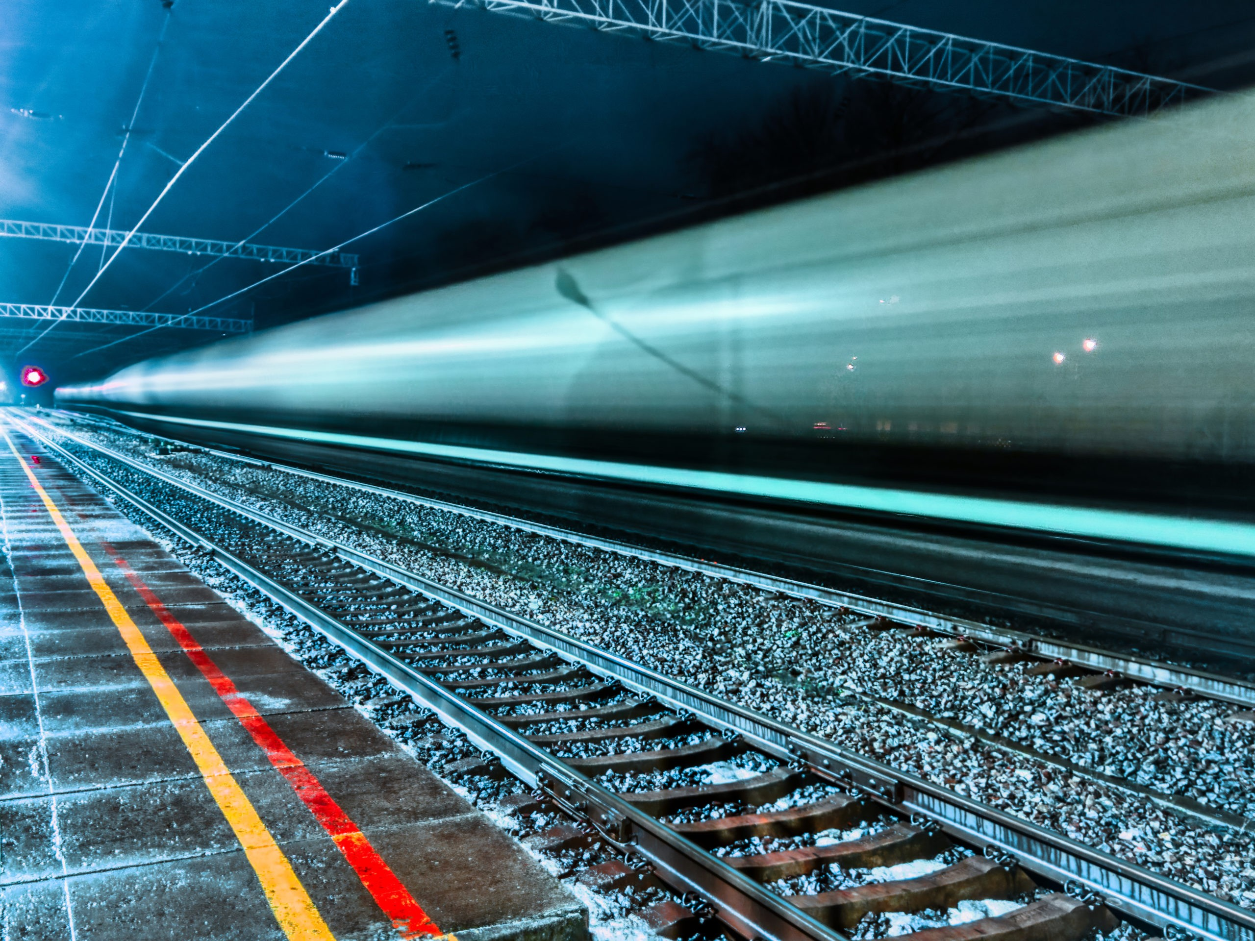 freight train long exposure