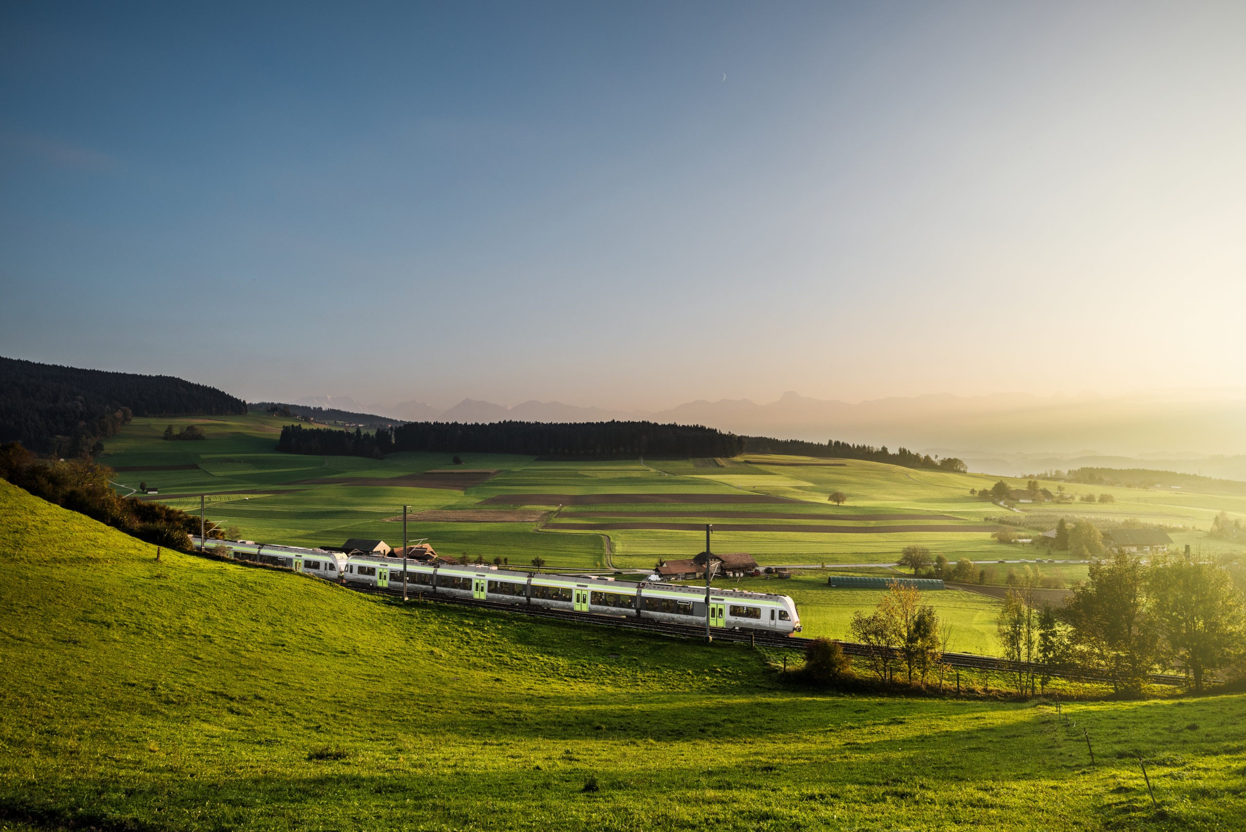 BLS passenger train between Bern and Lucerne