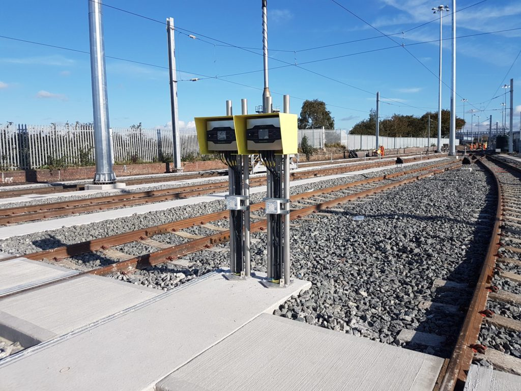The Road End Panels Installed at Manchester's Ardwick Depot, as Part of Zonegreen's Depot Personnel Protection System