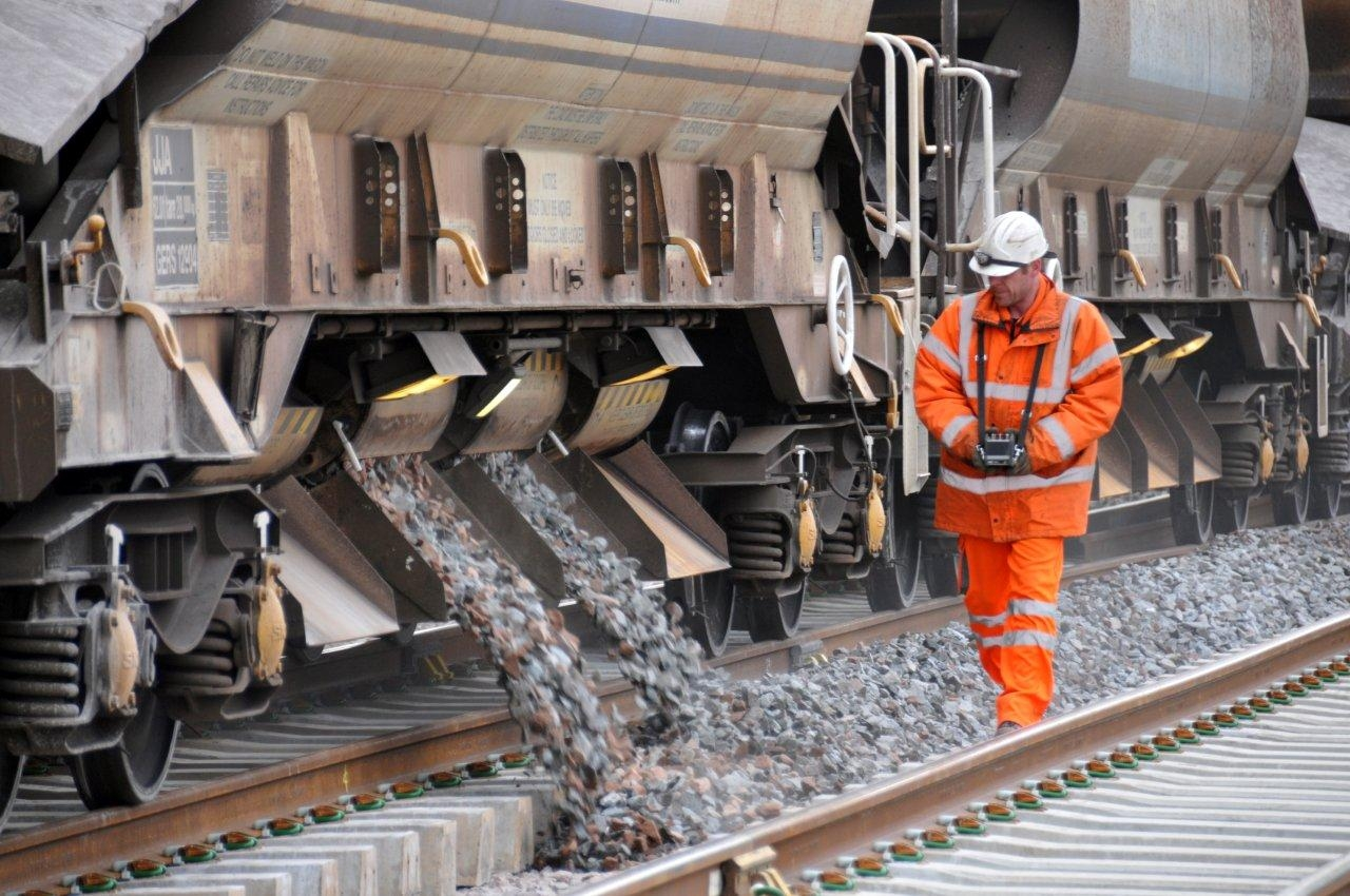 Network Rail track worker