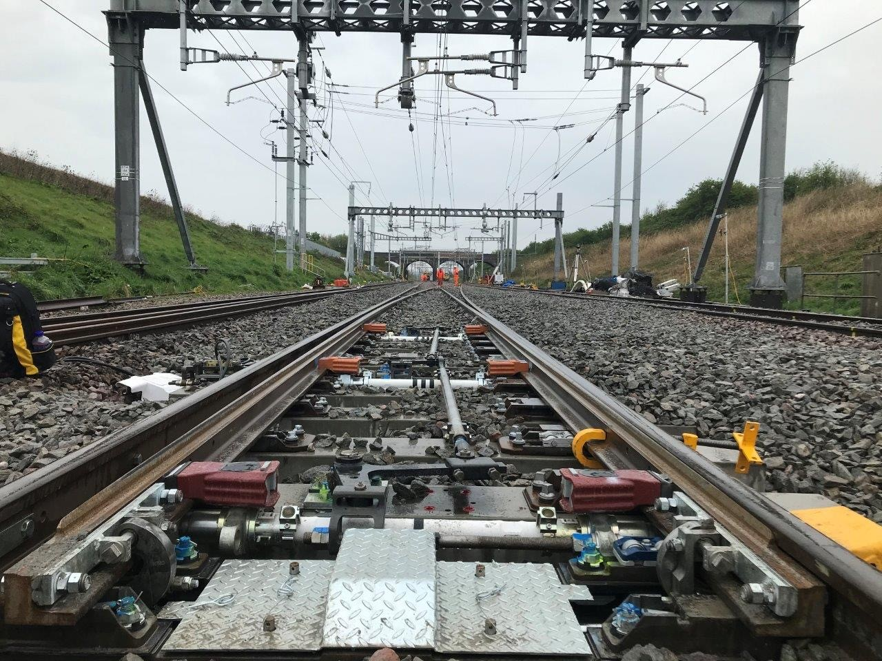 Railway upgrade work near Bristol