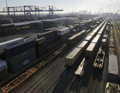 First Freight Train from Wuhan En Route to Germany