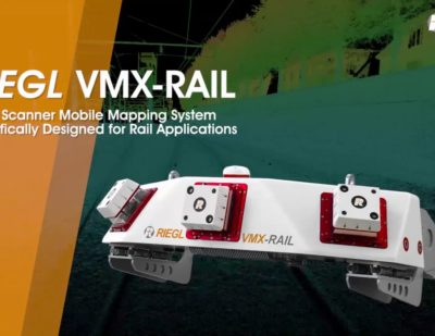 The RIEGL VMX-RAIL Triple Scanner Mobile Mapping System