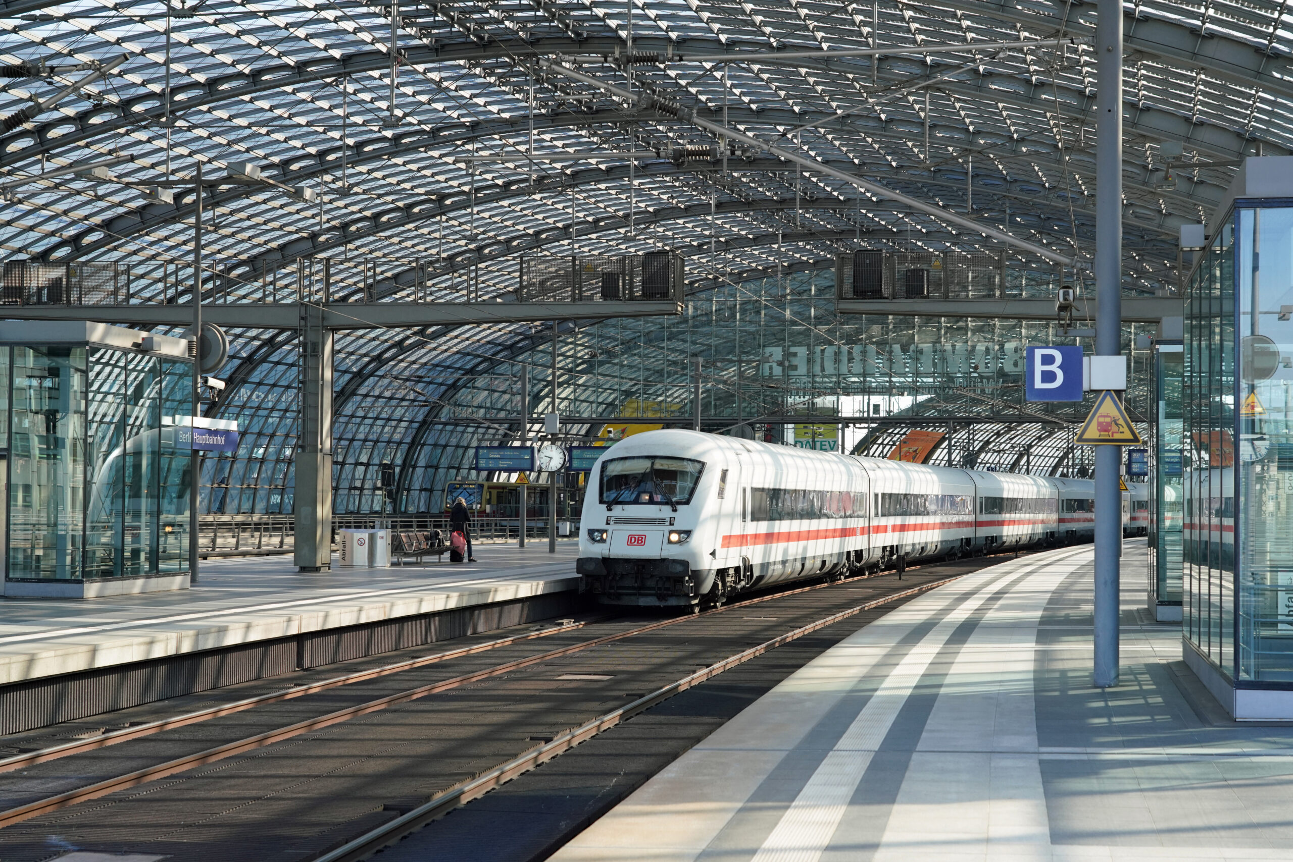 Berlin Central Station during the coronavirus pandemic
