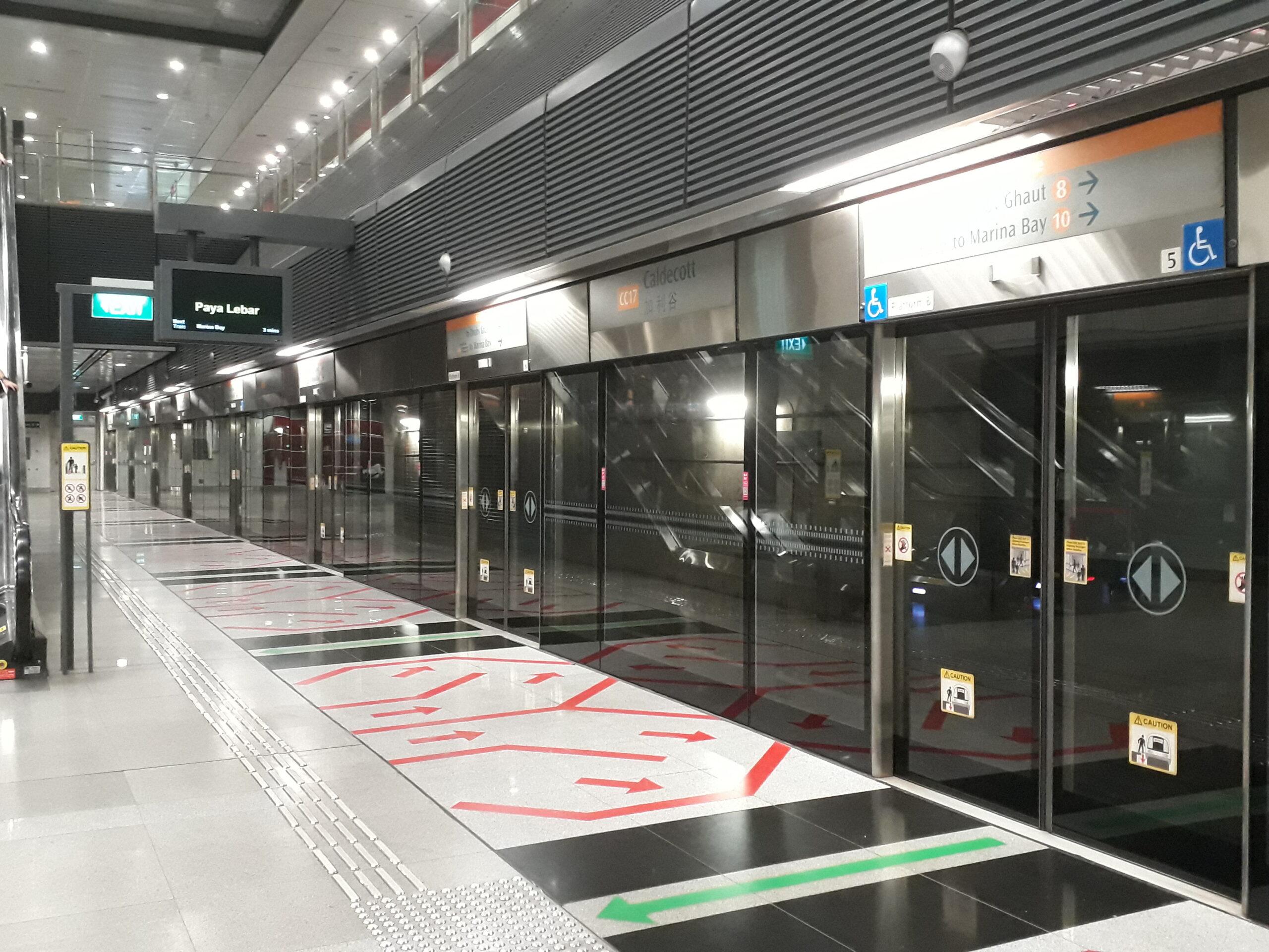 MRT Circle Line Platform Singapore