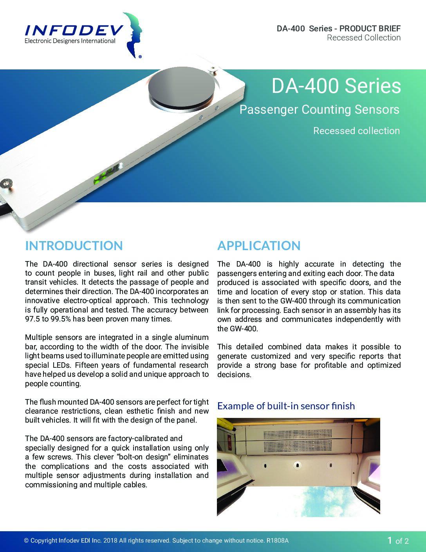 DA-400 Recessed Product Brief