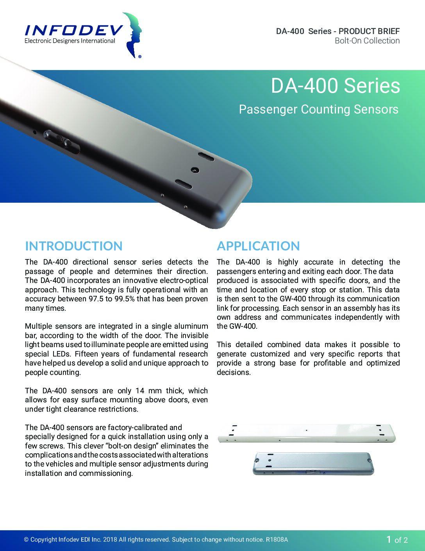 DA-400 Bolt-On Product Brief
