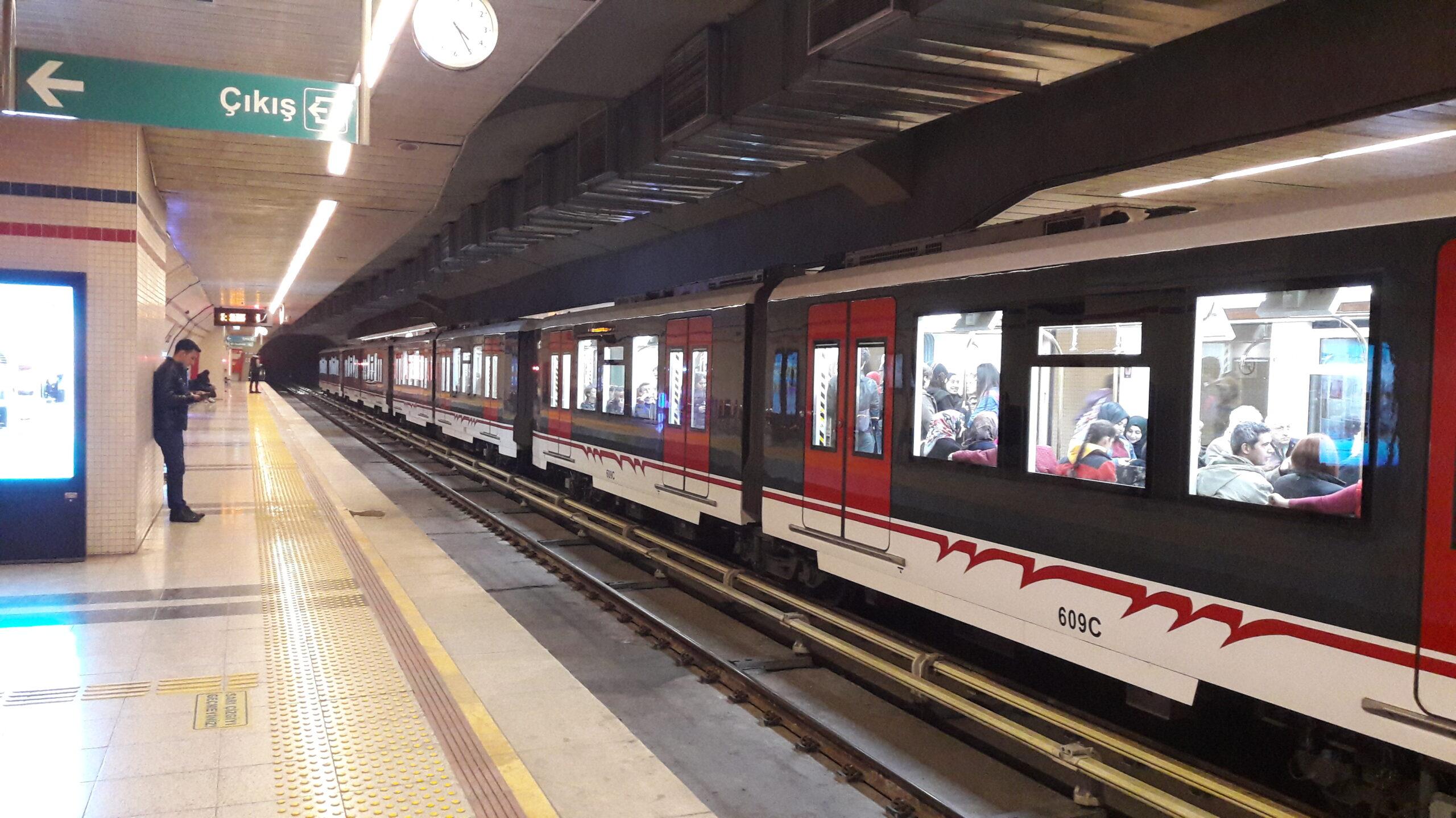 Poligon metro station in Izmir
