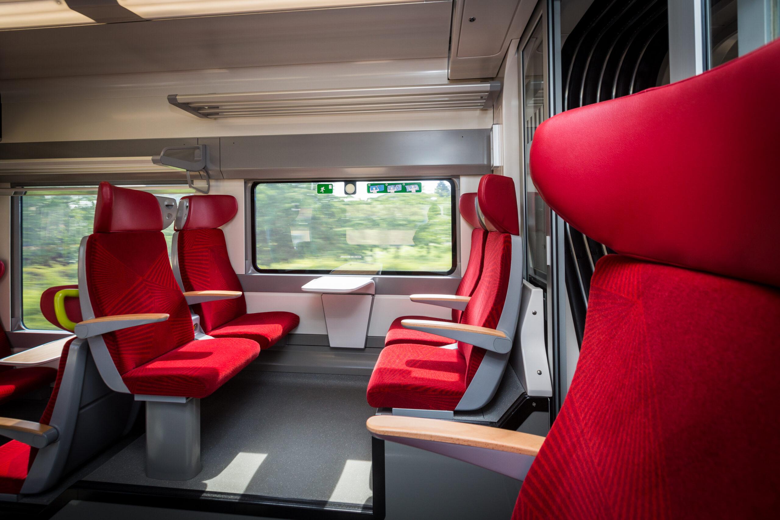 Interior of Alstom Coradia Polyvalent Régiolis