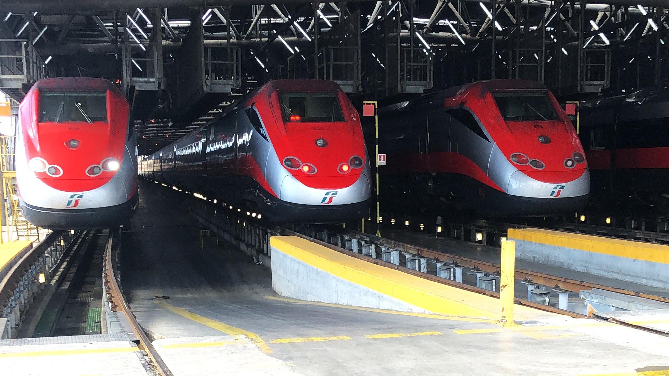Trenitalia ETR500 Frecciarossa in depot