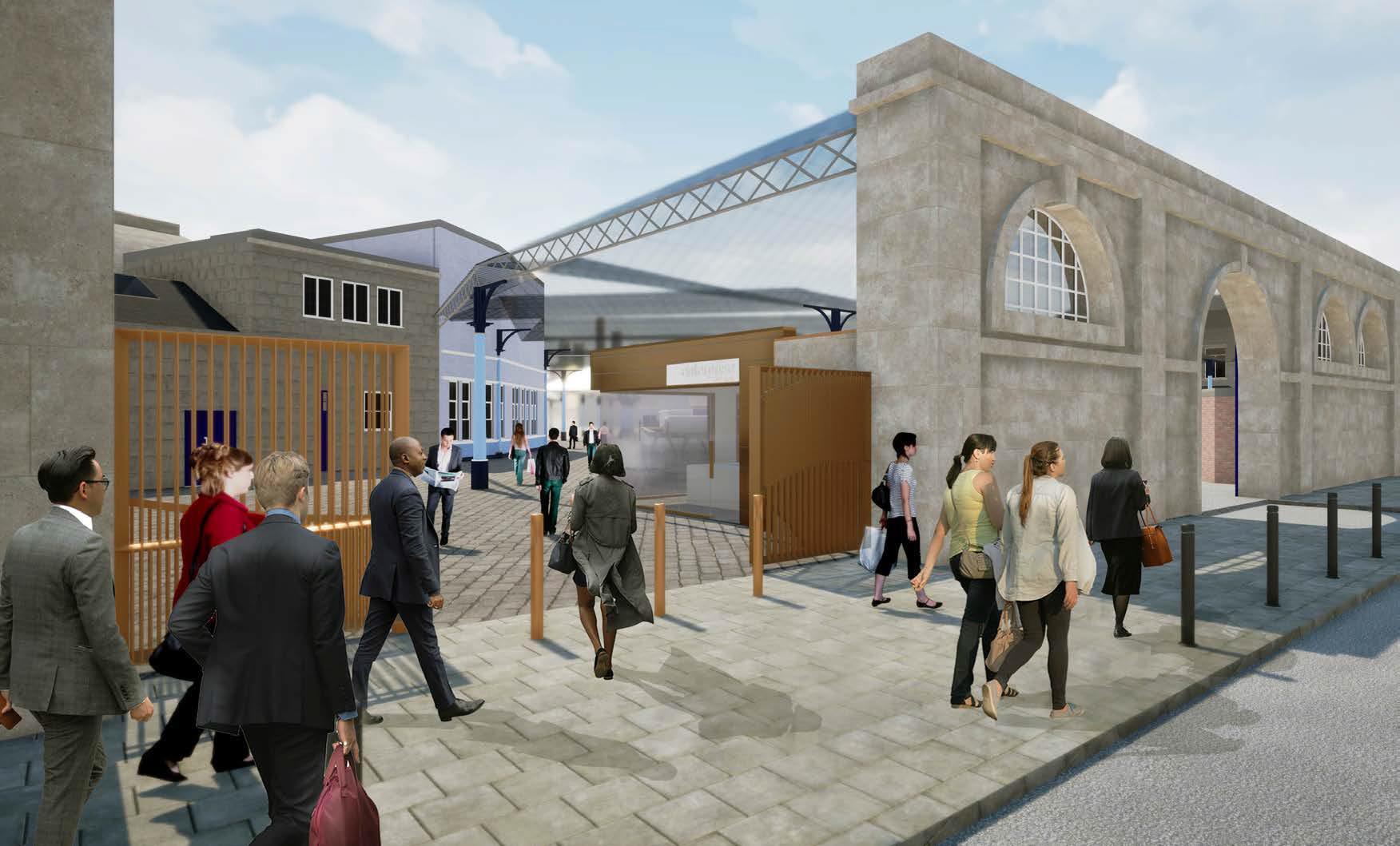 Newcastle Central Station Neville Street entrance