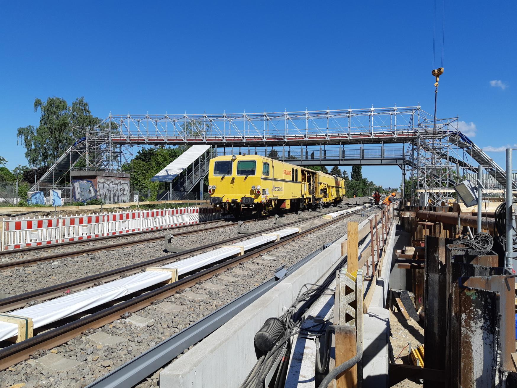 Berlin-Dresden railway line works