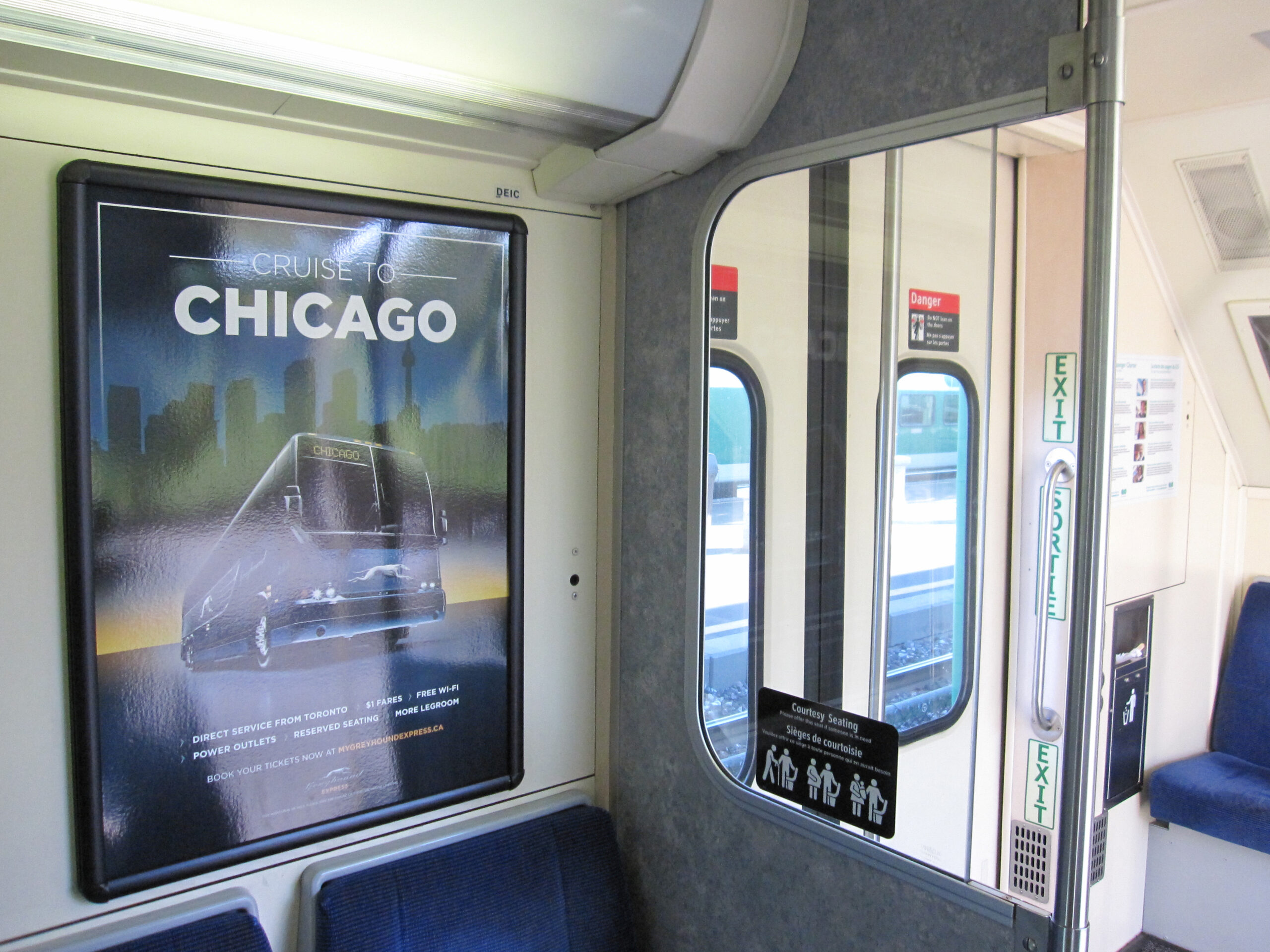 Interior Graphics for Passenger Rail Cars