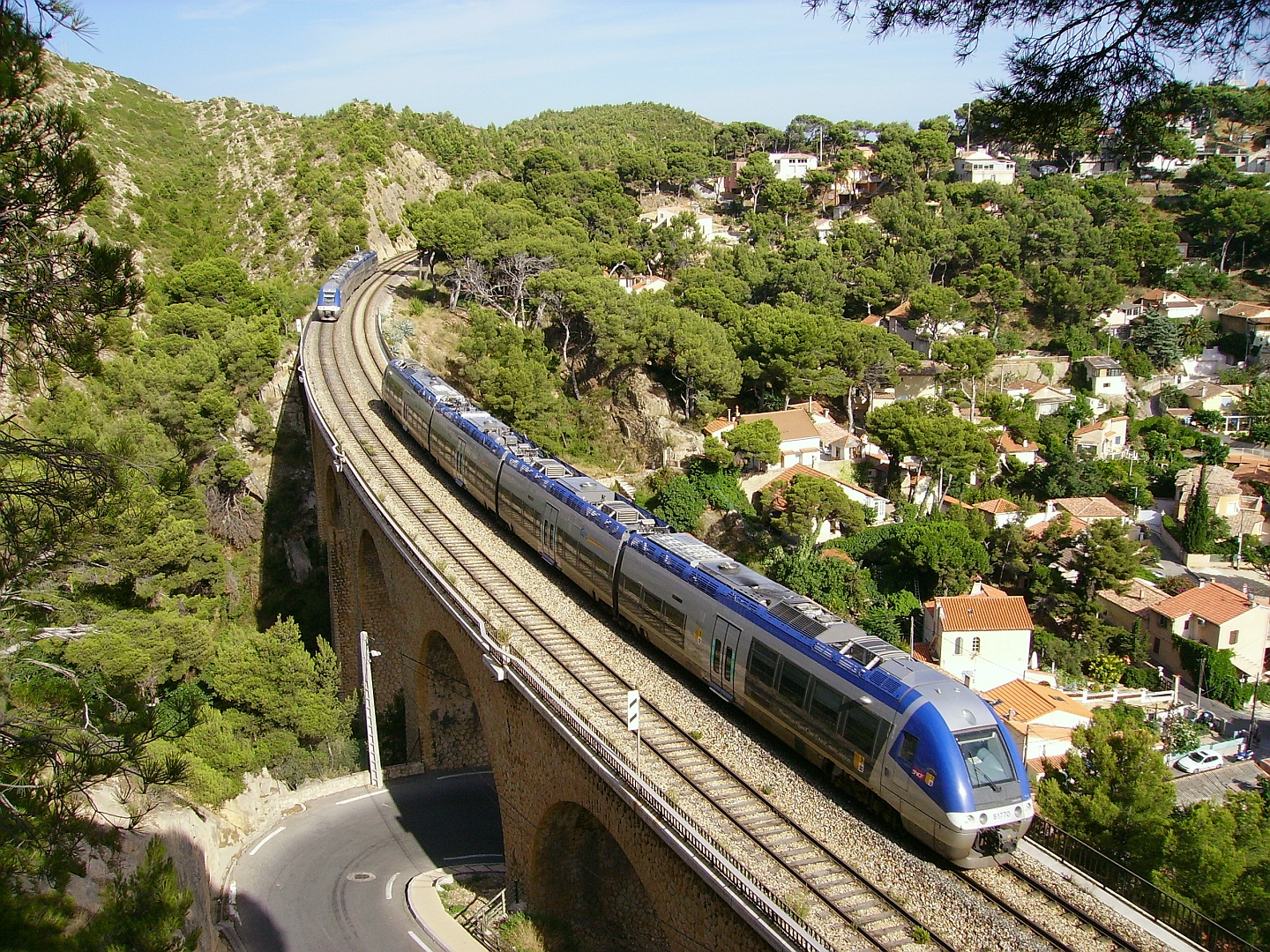 SNCF train and infrastructure