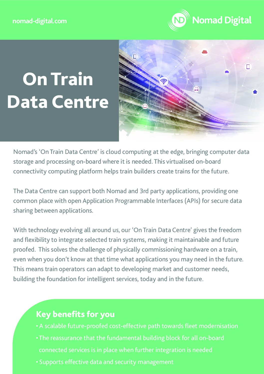On Train Data Centre and Applications-as-a-Service