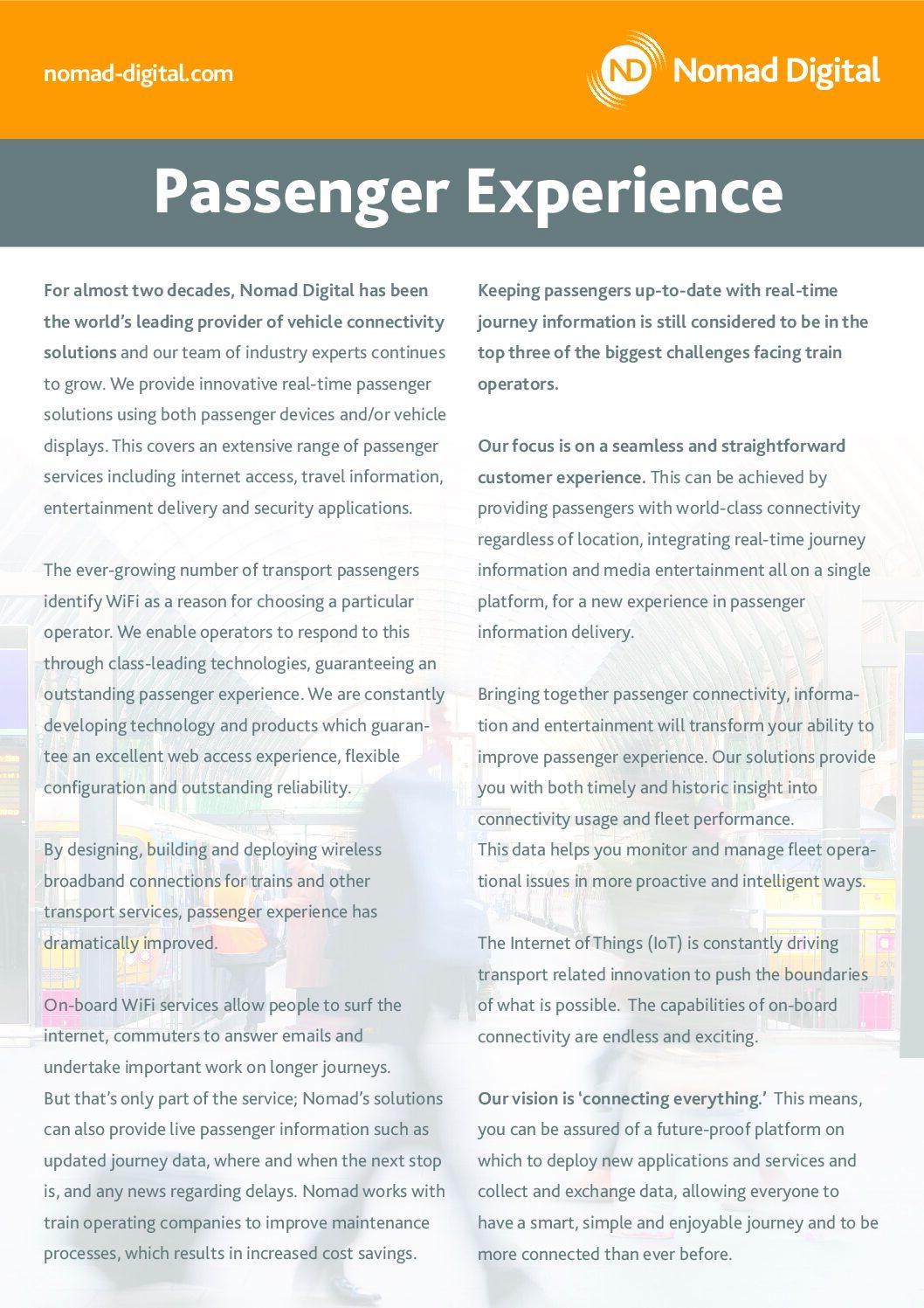 Passenger Experience