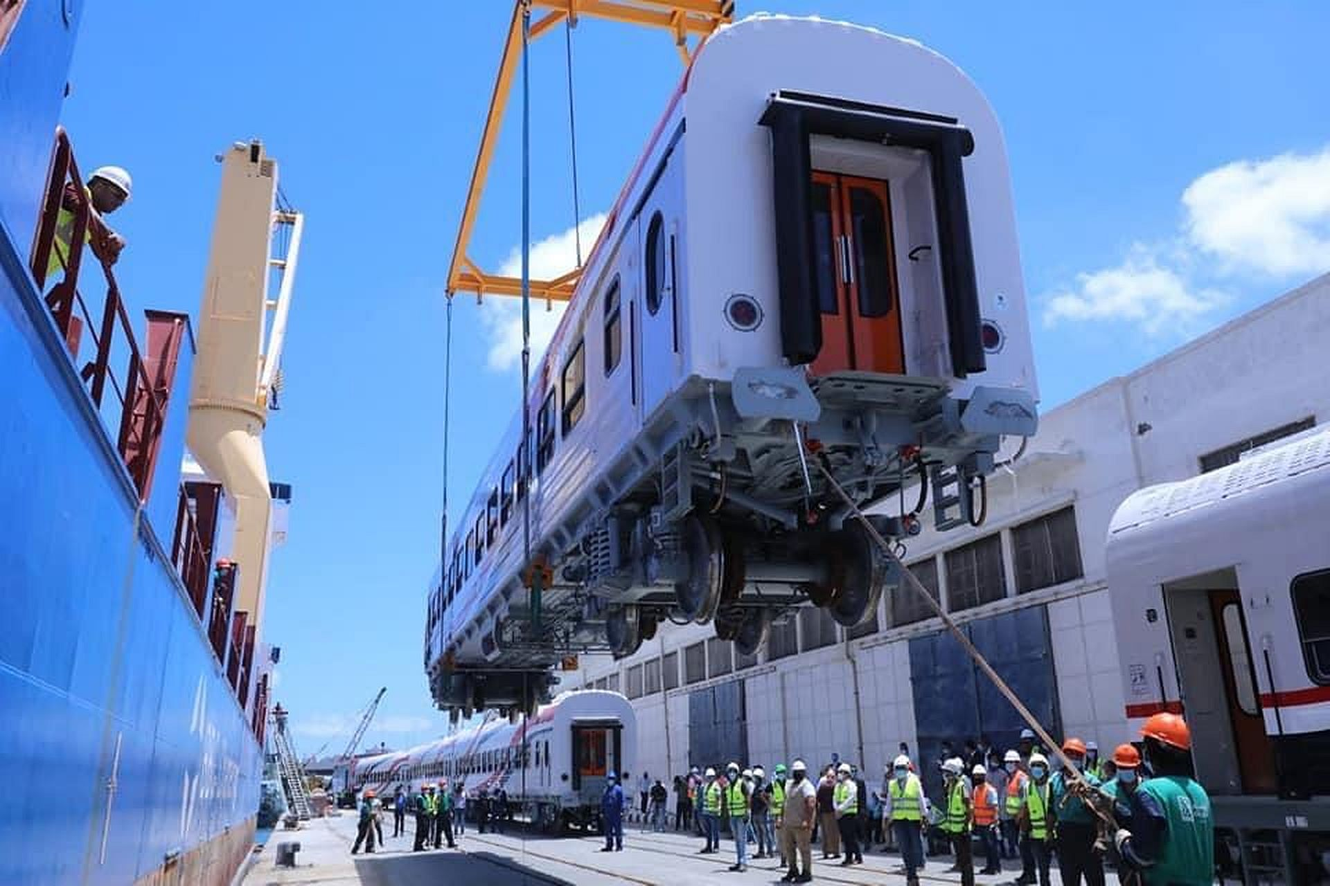 TMH passenger coach arrives in Alexandria