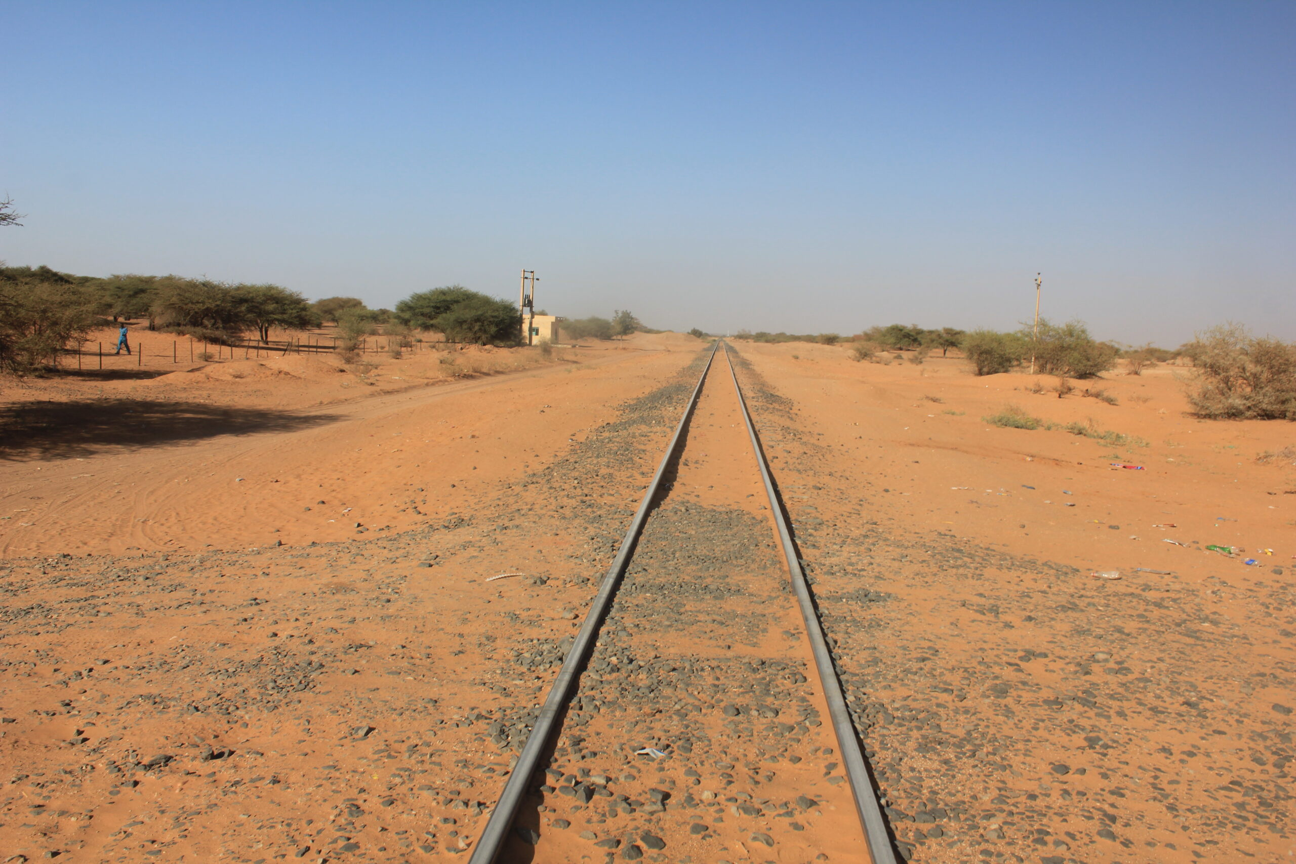 Narrow gauge railway tracks in Sudan