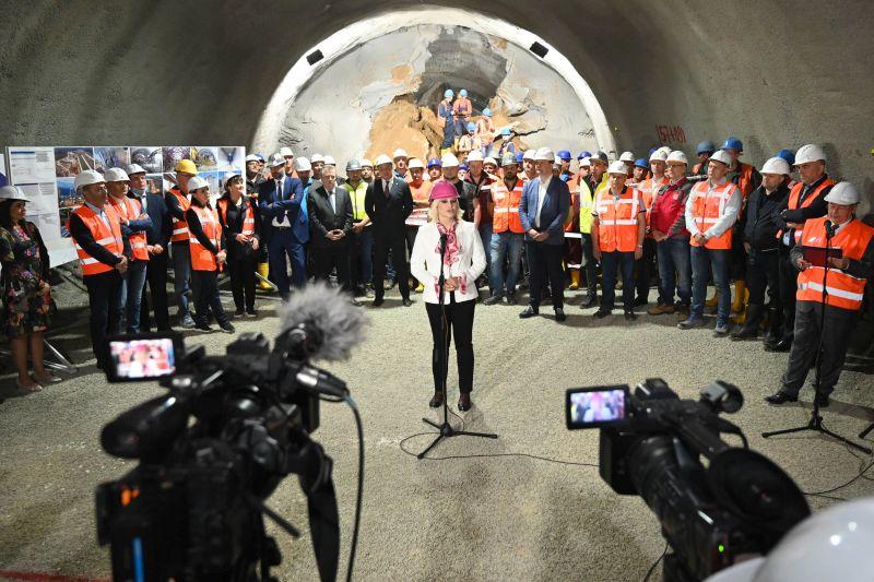 Cortanovci tunnel breakthrough