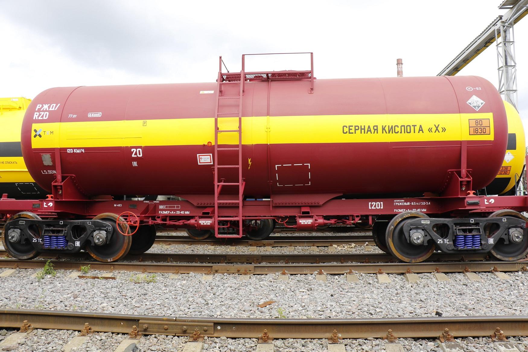 UWC tank car for sulphuric acid RS-Trans