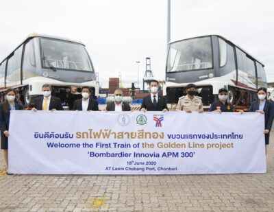 First APM for Bangkok's Gold Line Arrives in Thailand