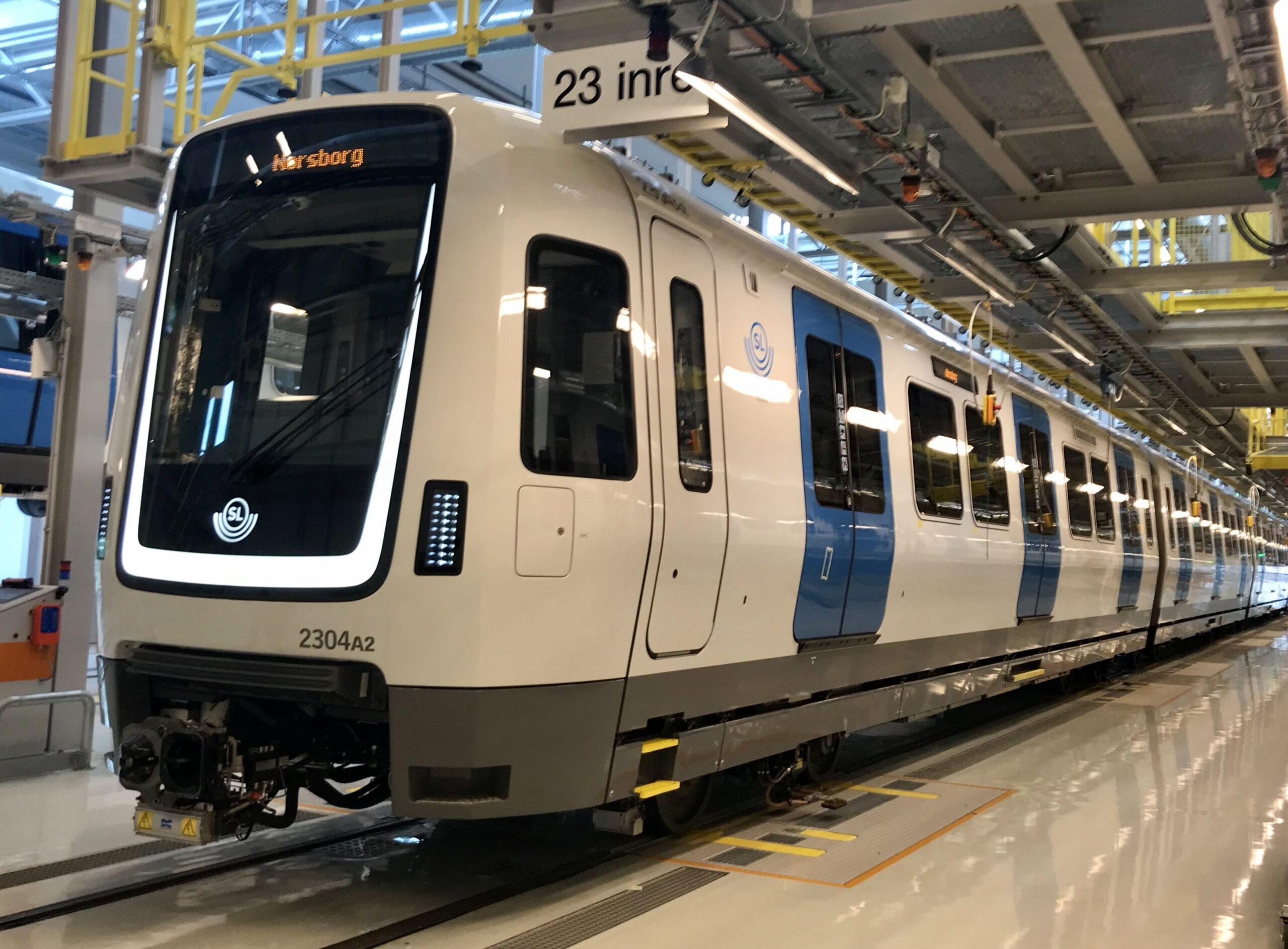 Bombardier MOVIA C30 metro for Stockholm