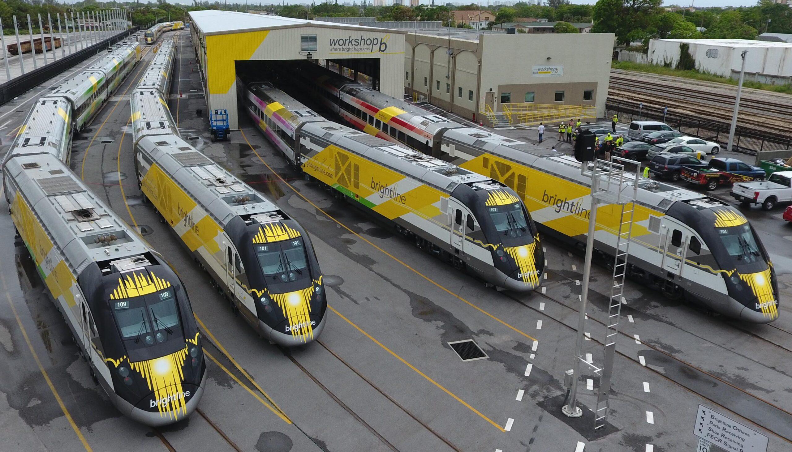Brightline (Virgin Trains USA) trains in Florida